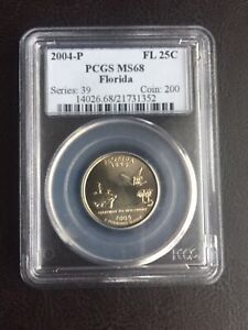 Click now to see the BUY IT NOW Price! 2004 P FLORIDA STATE QUARTER PCGS MS68
