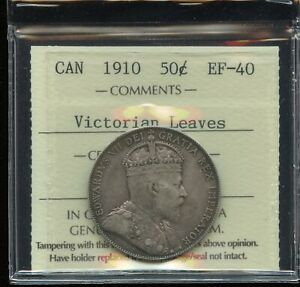 Click now to see the BUY IT NOW Price! 1910 CANADA FIFTY CENTS   ICCS EF 40   VICTORIAN LEAVES
