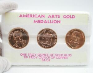 Click now to see the BUY IT NOW Price! 1980 1OZ GRANT WOOD AMERICAN ARTS GOLD MEDALLION 3 COIN SET
