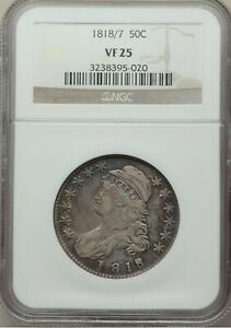 Click now to see the BUY IT NOW Price! 1818/7 CAPPED BUST HALF DOLLAR SMALL 8 O 102A R2 NGC VF 25