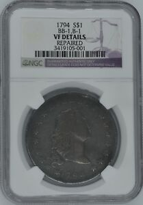 1794 FLOWING HAIR DOLLAR $1 VF DETAILS NGC WOW