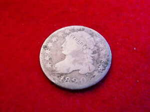 1820 CAPPED BUST DIME NICE FULL