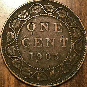 1905 CANADA LARGE CENT LARGE 1 CENT PENNY
