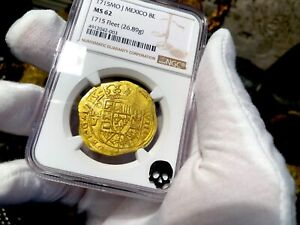 Click now to see the BUY IT NOW Price! MEXICO 1715 NGC 62 FLEET SHIPWRECK 8 ESCUDOS PIRATE GOLD COINS TREASURE COBS
