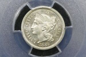 Click now to see the BUY IT NOW Price! 1889 GEM PROOF 3 CENT NICKEL PCGS PR 65
