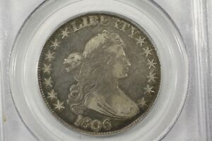 Click now to see the BUY IT NOW Price! 1806 DRAPED BUST HALF POINTED 6 NO STEM PCGS VF 30