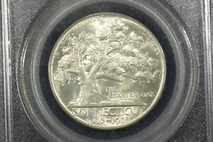 Click now to see the BUY IT NOW Price! 1935 CONNECTICUT COMMEMORATIVE HALF PCGS MS 65