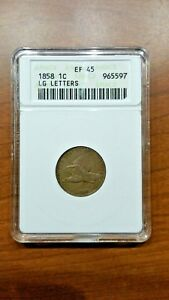 Click now to see the BUY IT NOW Price! 1858 FLYING EAGLE CENT 1C ANACS EF45 KM85 LARGE LETTERS