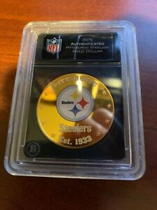 2016 AUTHENTICATED PITTSBURGH STEELERS FIJI $1 GOLD DOLLAR