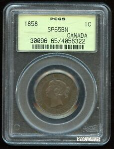 Click now to see the BUY IT NOW Price! 1858 ONE CENT SPECIMEN   ROYAL MINT   KM1   SUPERBLY STRUCK   PCGS SP65BN