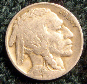 NICE ANTIQUE 1926 P BUFFALO NICKEL 5 CENT INDIAN HEAD COIN 5C US ESTATE FIND