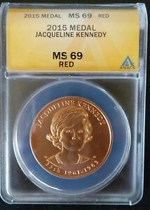 Click now to see the BUY IT NOW Price! 2015 KENNEDY ANACS MS69  FIRST SPOUSE MEDAL JACQUELINE JACKIE O HIGHEST GRADED