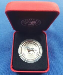 2002 FIFTY CENT  YEAR OF THE HORSE   1/2 OZ SILVER   PERTH MINT    UNCIRCULATED