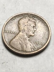 1909 P LINCOLN WHEAT CENT AVERAGE GRADE COIN FOR ANY COLLECTION LOT S40