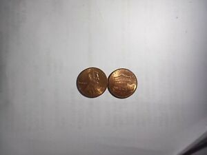 TWO 2013 P LINCOLN SHIELD ONE CENT PENNY COINS CIRCULATED VF