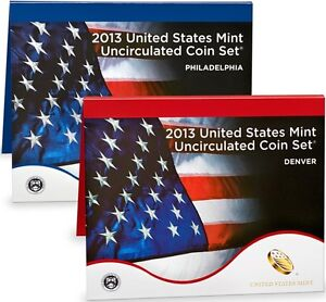 Click now to see the BUY IT NOW Price! 2013 P&D UNCIRCULATED 28 COIN MINT SET W/COA & UNOPENED BOX