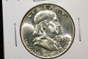 Click now to see the BUY IT NOW Price! 1959 FRANKLIN HALF CHOICE BU