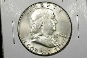 Click now to see the BUY IT NOW Price! 1962 FRANKLIN HALF DOLLAR BU