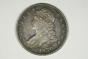 Click now to see the BUY IT NOW Price! 1830 CAPPED BUST HALF SMALL 0 O 101 R1 SUPER CHOICE AU   SLIDER BU