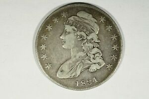 Click now to see the BUY IT NOW Price! 1834 CAPPED BUST HALF SMALL DATE SMALL LETTERS CHOICE FINE
