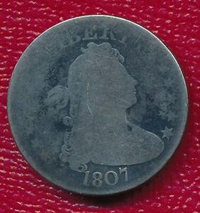 1807 DRAPED BUST SILVER QUARTER   NICELY CIRCULATED