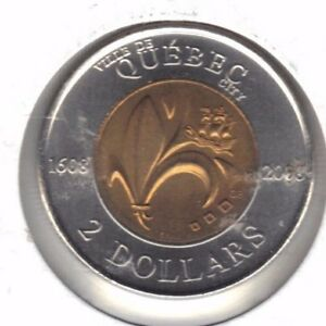 CANADA 2008 QUEBEC BU TWO DOLLAR COIN FROM MINT ROLL