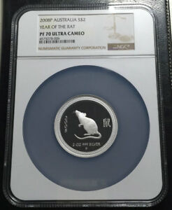 Click now to see the BUY IT NOW Price! 2008 AUSTRALIA 2 OZ SILVER NGC PF70UC LUNAR YEAR OF THE RAT  SERIES I