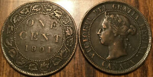 1901 CANADA LARGE 1 CENT COIN PENNY G  BUY 1 OR MORE ITS