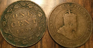 1906 CANADA LARGE 1 CENT COIN PENNY G  BUY 1 OR MORE ITS