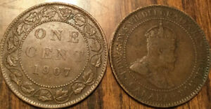 1907 CANADA LARGE 1 CENT COIN PENNY G  BUY 1 OR MORE ITS