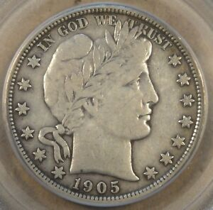 1905 BARBER HALF DOLLAR PCGS VF20