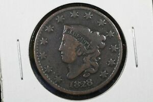 1828 LG DATE CORONET HEAD LARGE CENT GOOD