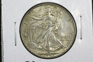 Click now to see the BUY IT NOW Price! 1943 WALKING LIBERTY HALF SLIDER BU