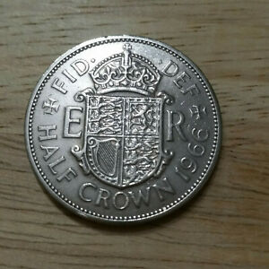 1966 HALF CROWN   CONDITION IS  EF  LY FINE