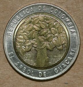 2004 COLOMBIA 500 PESOS  FOREIGN COIN
