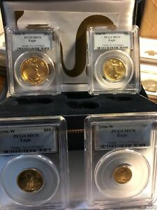 Click now to see the BUY IT NOW Price! 2006W GOLD EAGLE 4 COINS SET