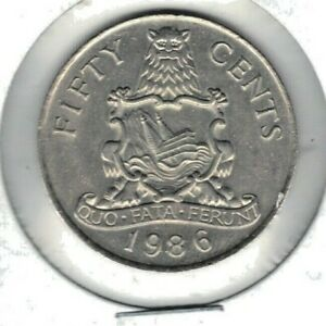 BERMUDA 1986 FIFTY CENT COIN