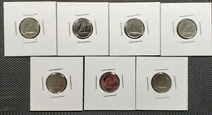 CANADA 1974   1980 SET OF 7 DIFFERENT 10 CENTS SPECIMEN COINS COLLECTION LOT