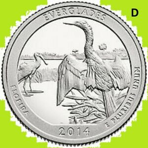 2014 D QUARTER EVERGLADES FL NATIONAL PARK AT   UNC 2ND   BUY 1  SAVE 10