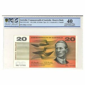 Click now to see the BUY IT NOW Price! COMMONWEALTH OF AUSTRALIA 1967 $20 PAPER BANKNOTE COOMBS/RANDALL  PCGS GRADED EF