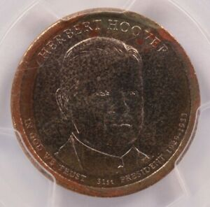 PCGS $1 2014 P HERBERT HOOVER DOLLAR IMPROPERLY ANNEALED MS65
