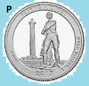 2013 P QUARTER PERRY'S VICTORY NATIONAL PARK ATB    UNC UNCIRCULATED 2ND STAINS