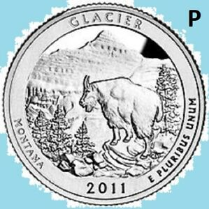 2011 P QUARTER GLACIER NATIONAL PARK ATB PHILADELPHIA    UNC UNCIRCULATED 2ND