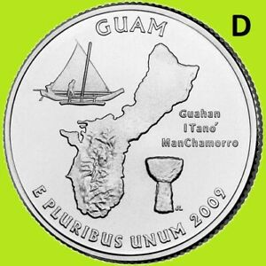 2009 D GUAM QUARTER  DC & US TERRITORY STATE DENVER   UNC UNCIRCULATED 2ND