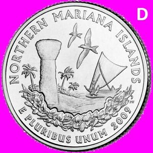 2009 D NORTHERN MARIANA ISLANDS QUARTER DC US TERRITORY STATE DENVER   UNC  2ND