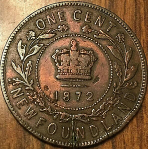 1872 NEWFOUNDLAND LARGE CENT PENNY