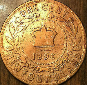 1890 NEWFOUNDLAND LARGE CENT PENNY   CLEANED