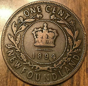 1894 NEWFOUNDLAND LARGE CENT PENNY