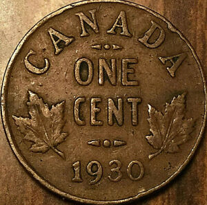 1930 CANADA SMALL CENT SMALL 1 CENT PENNY
