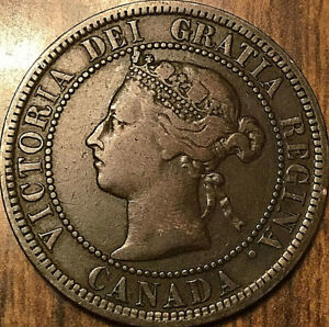 1882H CANADA LARGE CENT PENNY LARGE 1 CENT   OBV2 VARIETY